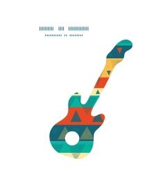 vibrant ikat stripes guitar music vector image vector image