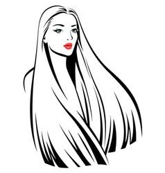 young beautiful girl vector image vector image