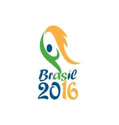 Brasil 2016 Flames Summer Games vector image vector image