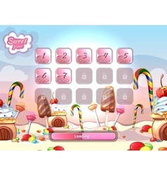 Cartoon fairy tale candy background with vector image