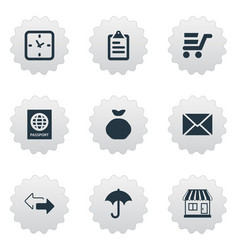 Set of simple handing icons vector