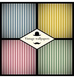 Set of vintage striped patterns vector image