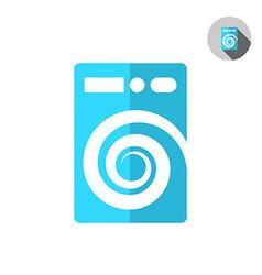 Washer machine logo vector