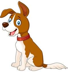 Cartoon dog sitting isolated on white background vector image vector image