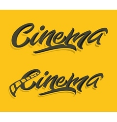 Cinema lettering print vector image
