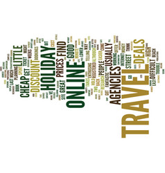 The easy way to cheap holiday travel text vector