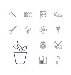13 garden icons vector