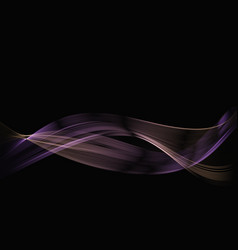Abstract colored smoke on a black background vector