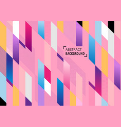 abstract colorful geometric design background vector image