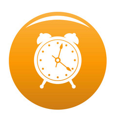 Alarm clock icon orange vector