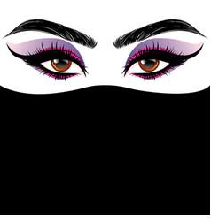 arabic female eyes vector image