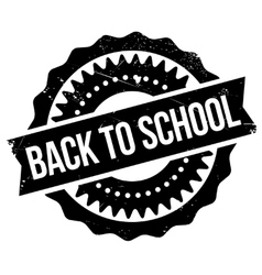 Back to school stamp vector
