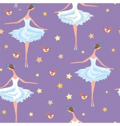 ballet seamless pattern vector image
