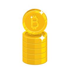 bitcoin symbol stack vector image