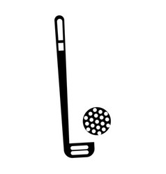 black icon golf club and ball vector image