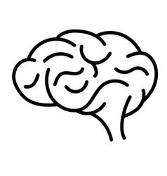 Brain gyrus icon is a simple cartoon comic style vector