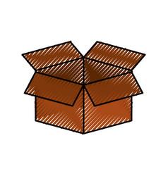 cardboard box storage information concept icon vector image