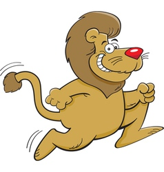 Cartoon Lion Running vector image