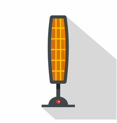 Ceramic heater icon flat style vector