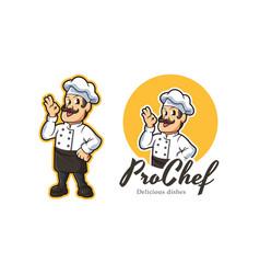 chef mascot logo vector image