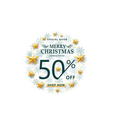 christmas sale concept on white background vector image