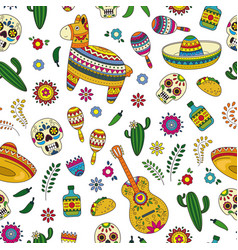 cinco de mayo celebration in mexico cartoon vector image