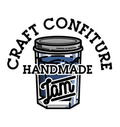 color vintage confiture emblem vector image
