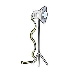 Comic cartoon photography studio lamp vector