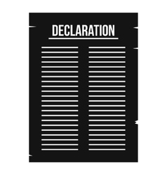 Declaration of independence icon simple style vector