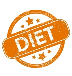 Diet grunge icon vector image