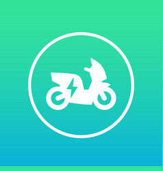 electric scooter icon in circle vector image