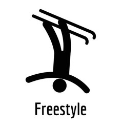 Freestyle icon simple style vector