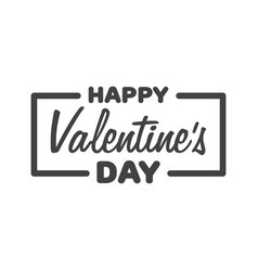 Greeting card happy valentines day lettering vector