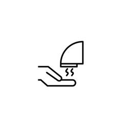 hand dryer icon vector image
