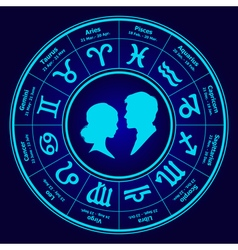 horoscope love vector image