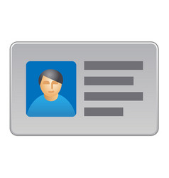 Identification personal card vector