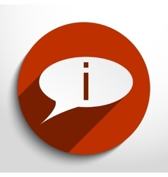 info bubble icon vector image