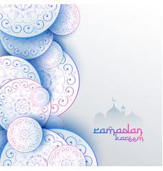 Islamic ramadan kareem festival greeting card vector
