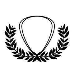 Isolated shield inside wreath design vector