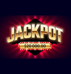 jackpot gambling game bright banner with winning vector image