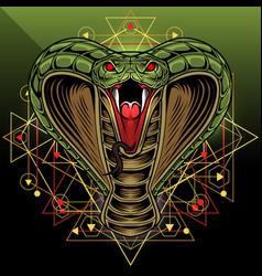 king cobra head mascot logo design vector image