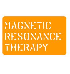 Magnetic resonance sign vector