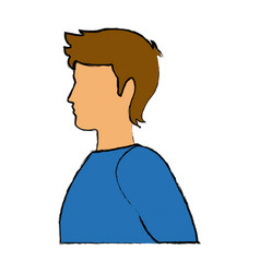 Male man avatar profile icon in green sport vector