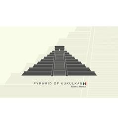 mayan pyramid kukulkan in mexico vector image