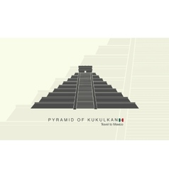 Mayan pyramid of Kukulkan in Mexico vector