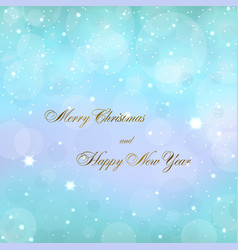 merry christmas blue decoration background with vector image