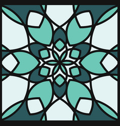 modern professional pattern ornament in green vector image