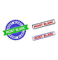 Mont blanc rosette and rectangle bicolor vector