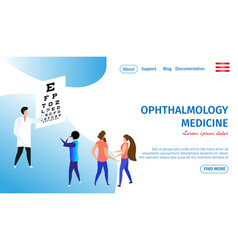 Ophthalmology medicine horizontal banner eye care vector