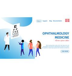 ophthalmology medicine horizontal banner eye care vector image